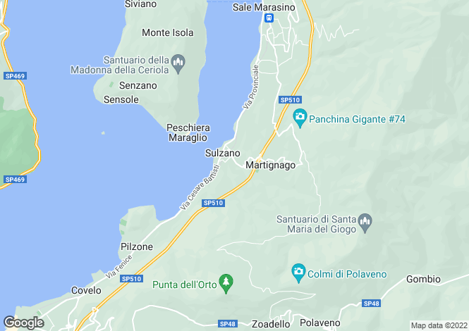 Map for Iseo, Brescia, Lombardy