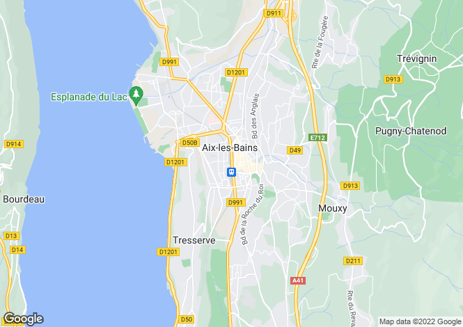 Map for aix-les-bains, Ain, France