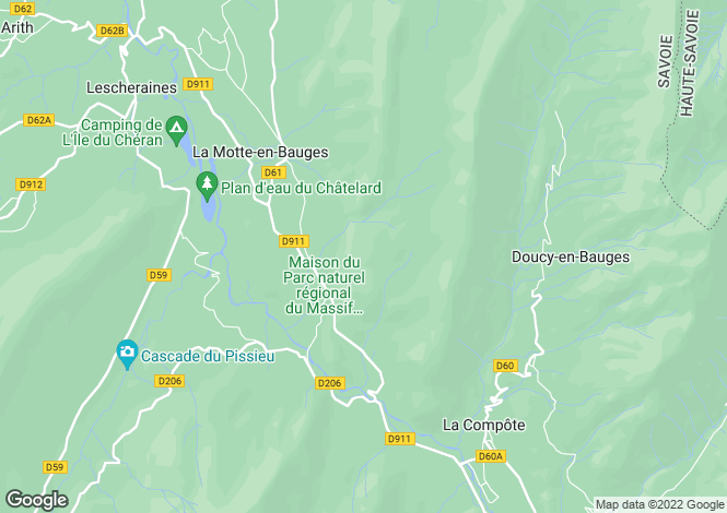 Map for le-chatelard, Savoie, France