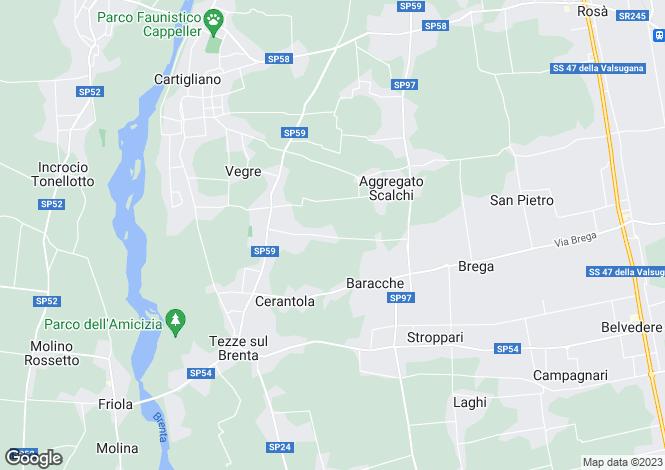 Map for Vicenza, Vicenza, Veneto