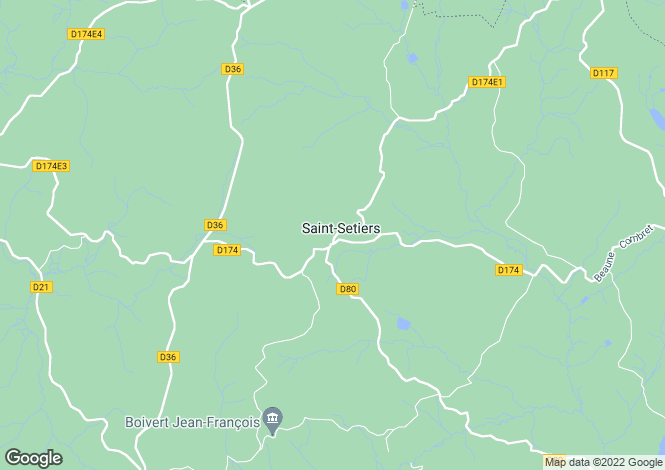 Map for St-Setiers, Corrèze, Limousin