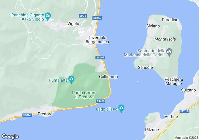 Map for Lombardy, Bergamo, Tavernola Bergamasca