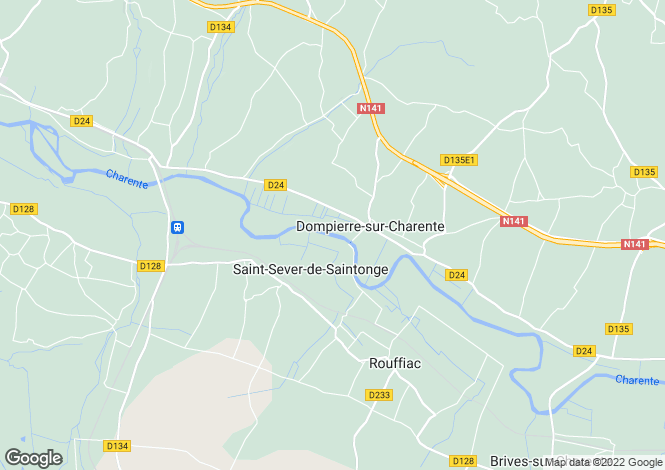 Map for saintes, Charente-Maritime, France
