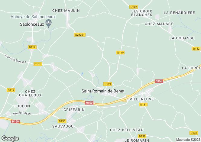 Map for st-romain-de-benet, Charente-Maritime, France