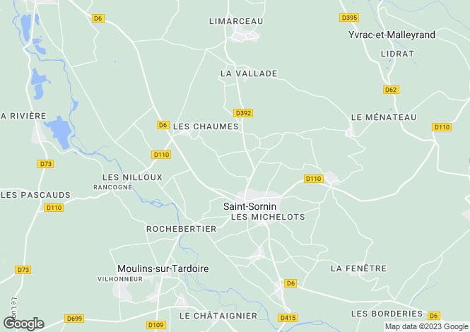 Map for st-sornin, Charente, France