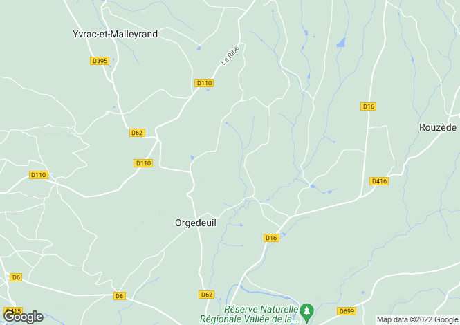 Map for orgedeuil, Charente, France