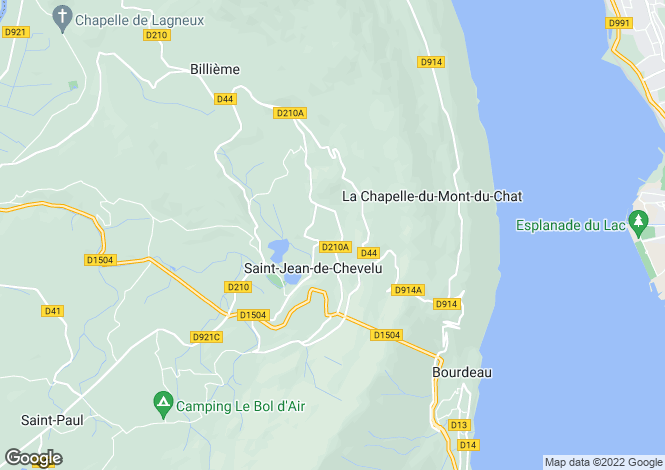 Map for Saint Jean de Chevelu,France