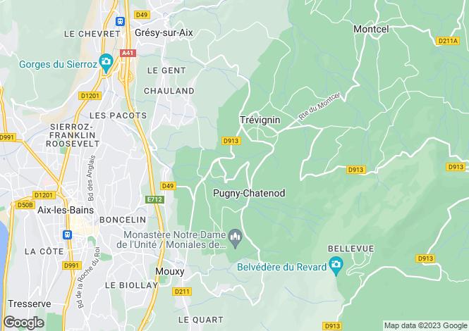 Map for Trévignin, 73100, France