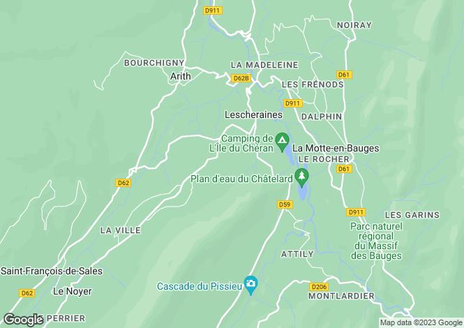 Map for Rhone Alps, Savoie, Lescheraines