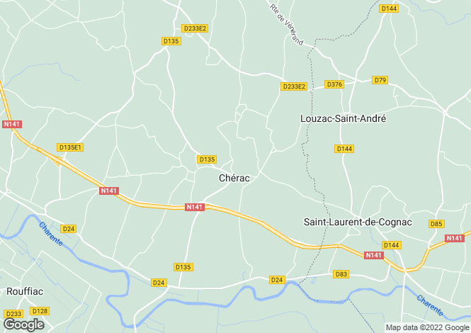 Map for cherac, Charente-Maritime, France