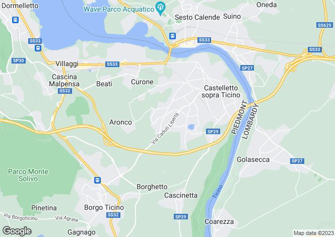 Map for Piedmont, Novara, Castelletto sopra Ticino