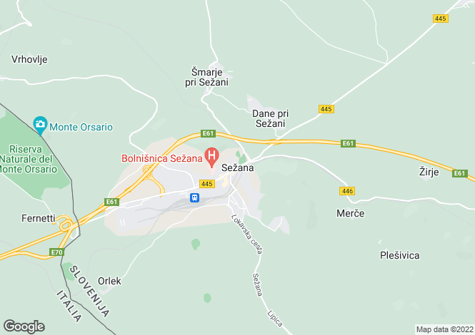 Map for Sezana, Sezana, Slovenia