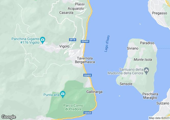 Map for Tavernola Bergamasca, Bergamo, Lombardy