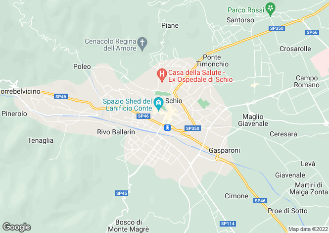Map for Schio, Vicenza, Veneto