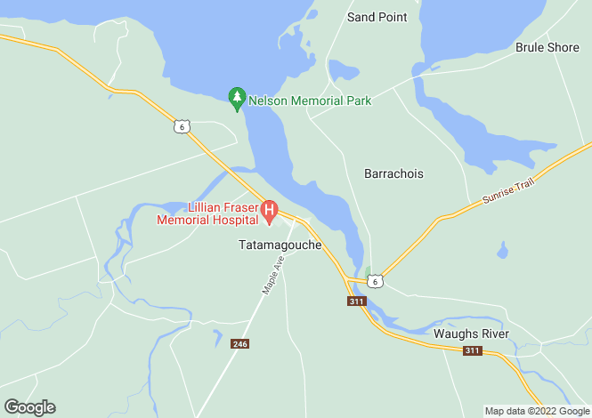 Map for Tatamagouche, Nova Scotia