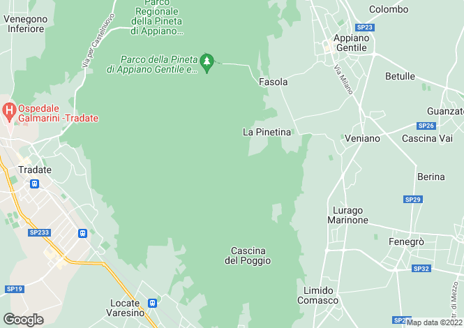 Map for Appiano Gentile, Como, Italy