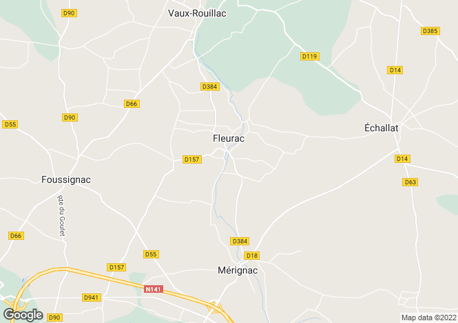 Map for fleurac, Charente, France