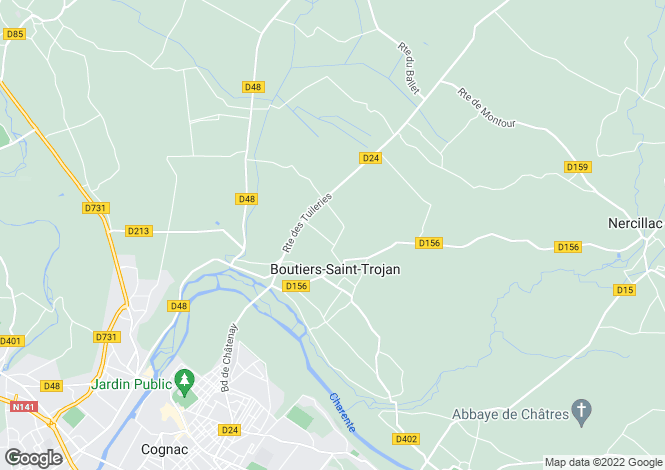 Map for boutiers-st-trojan, Charente, France
