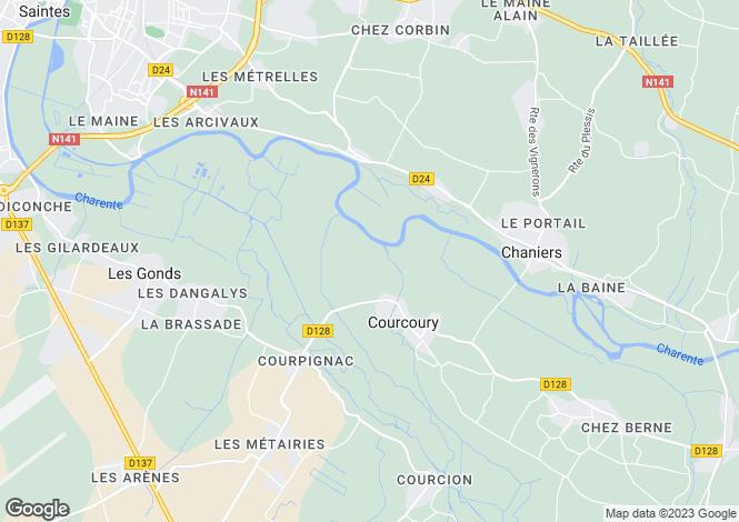Map for Courcoury, Charente-Maritime, Poitou-Charentes