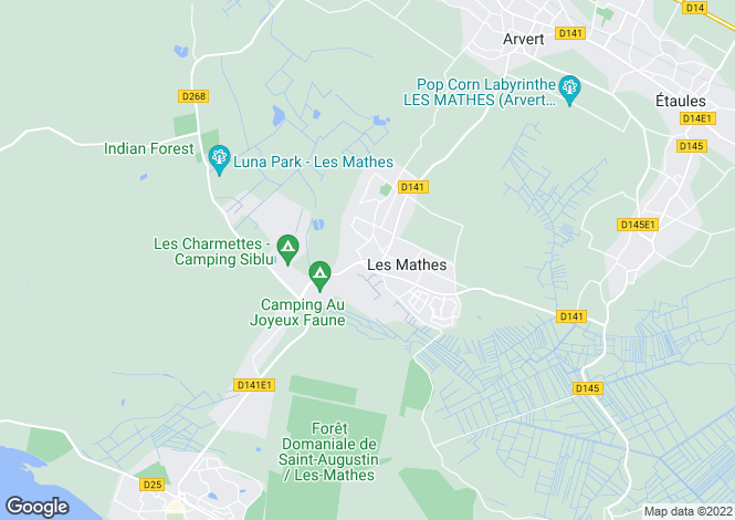 Map for les-mathes, Charente-Maritime, France