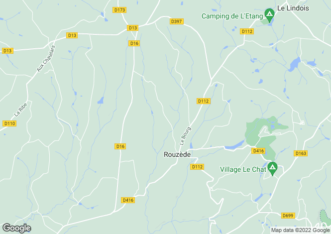 Map for rouzede, Charente, France