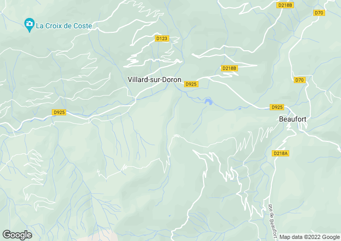 Map for villard-sur-doron, Savoie, France