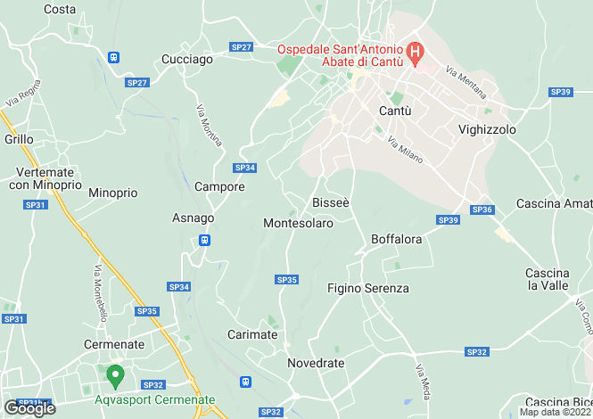 Map for Carimate, Como, Italy