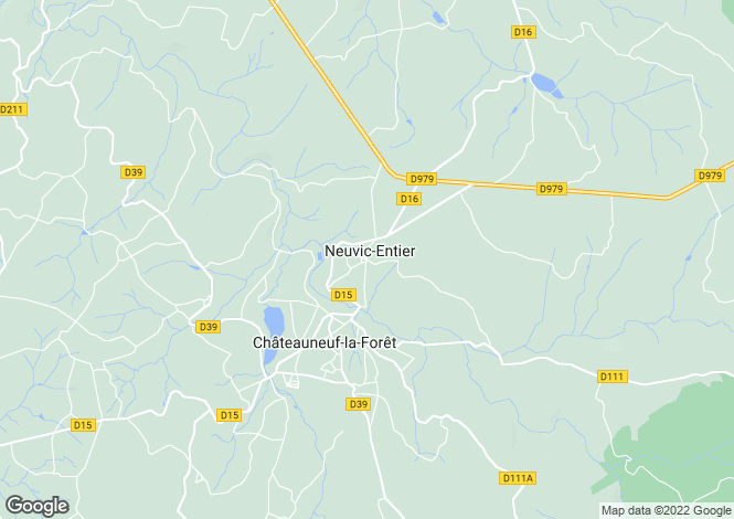 Map for Limousin, Haute-Vienne, Neuvic-Entier