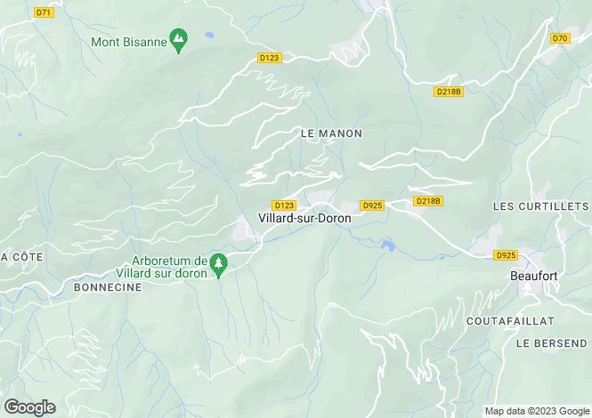 Map for Villard sur Doron, Haute Savoie, France, 73620