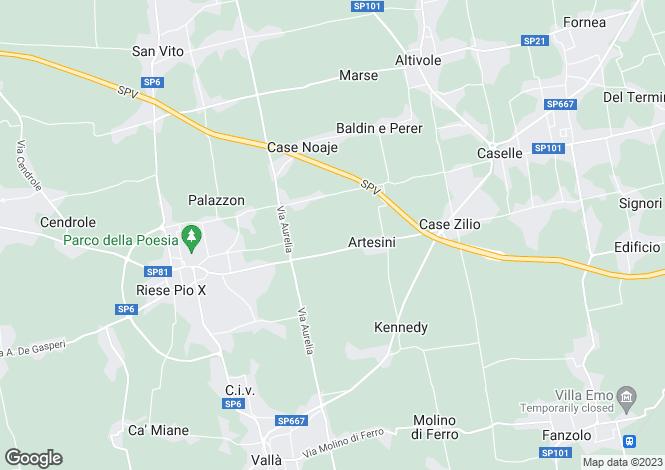 Map for Treviso, Treviso, Veneto