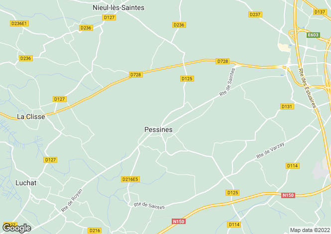 Map for Poitou-Charentes, Charente-Maritime, Pessines