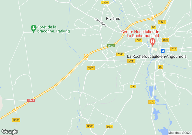 Map for st-projet-st-constant, Charente, France