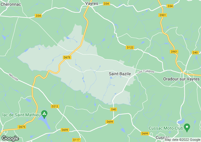 Map for st-bazile, Haute-Vienne, France