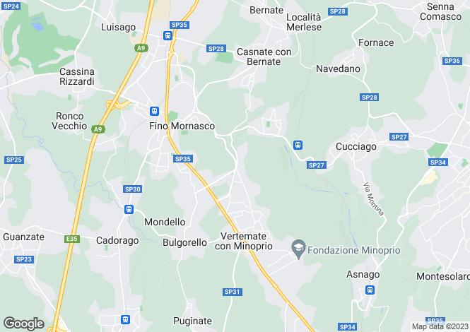 Map for Fino Mornasco, Como, Lombardy