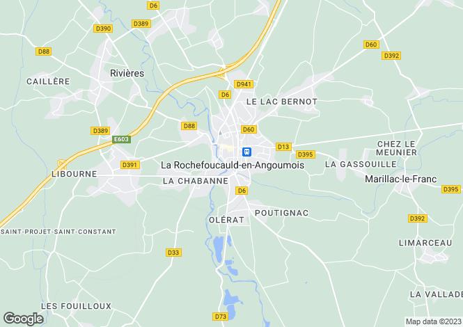Map for Secteur: La Rochefoucauld, Charente