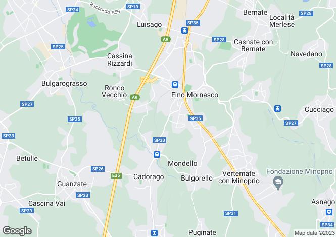 Map for Fino Mornasco, Como, Italy