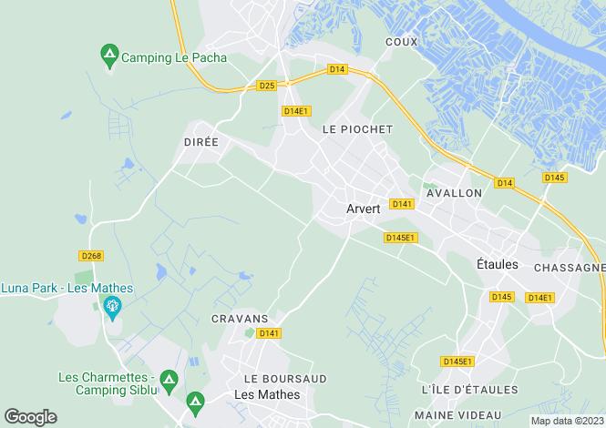 Map for arvert, Charente-Maritime, France