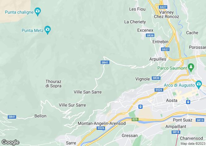 Map for Aosta, Valle d`Aosta