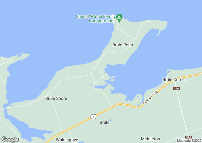 Map for Tatamagouche, Nova Scotia
