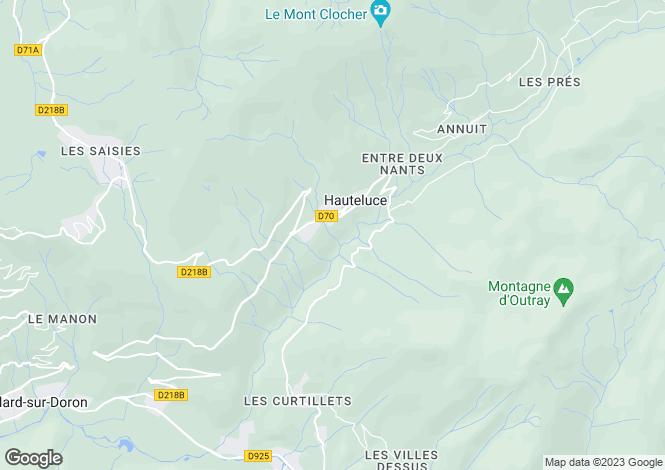 Map for Hauteluce, 73620, France
