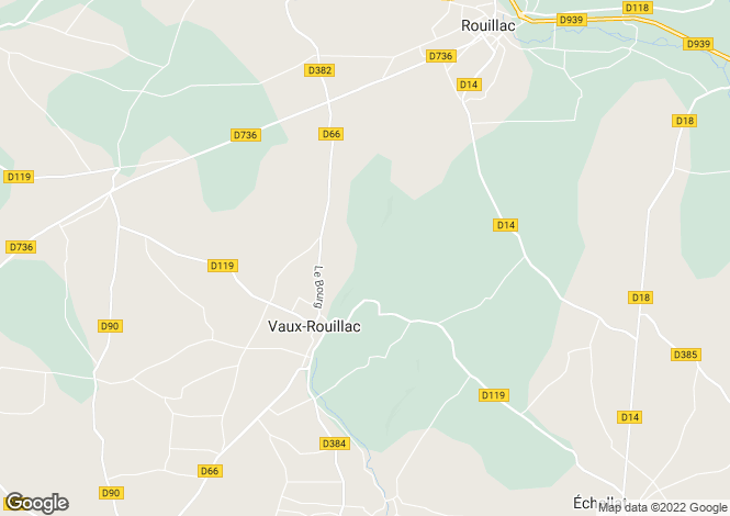 Map for vaux-rouillac, Charente, France