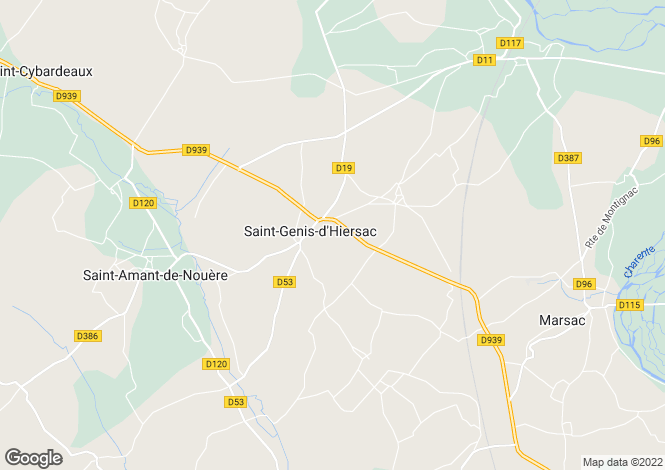 Map for saint-genis-d-hiersac, Charente, France