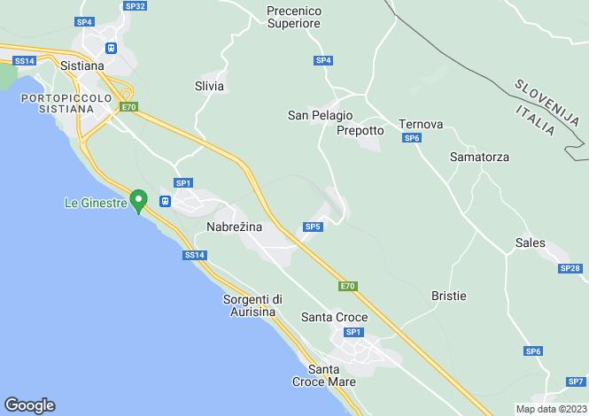 Map for Sistiana, Duino-Aurisina, Italy