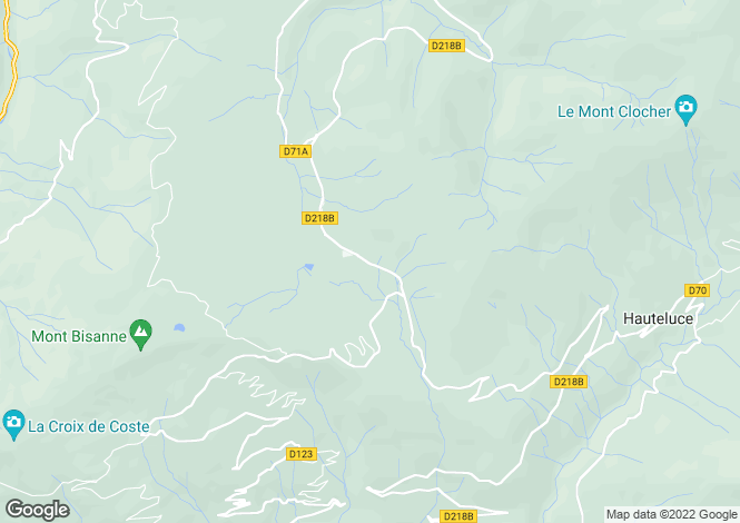Map for Les Chalets des Cimes, Les Saisies