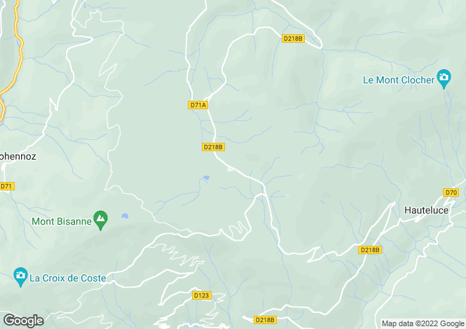 Map for Les Saisies, Savoie, Rhone Alps