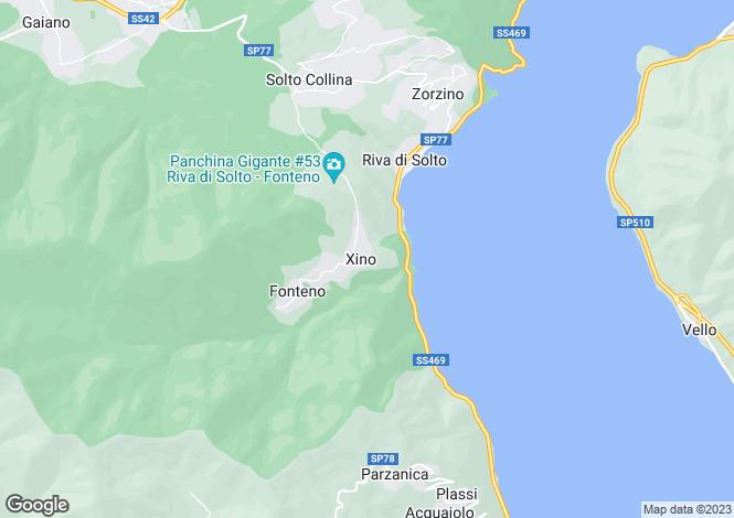Map for Solto Collina, Bergamo, Lombardy