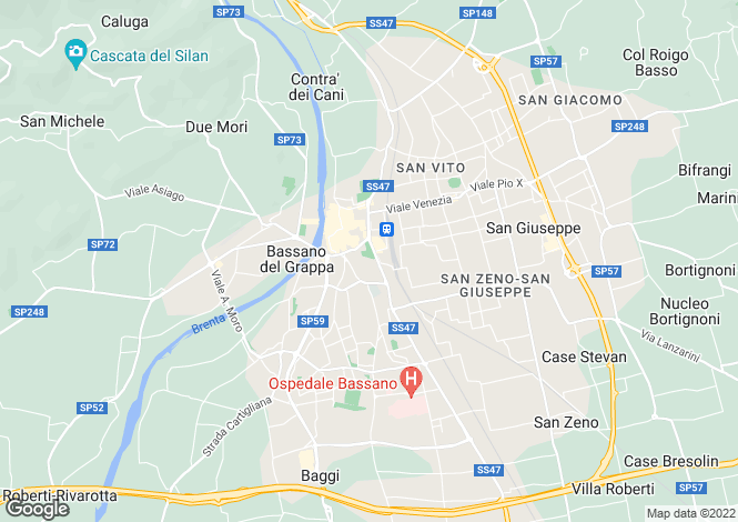 Map for Bassano del Grappa, Vicenza, Veneto
