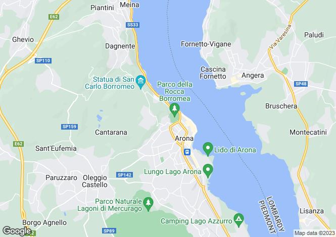 Map for Piedmont, Novara, Arona