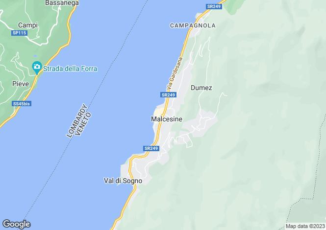 Map for Malcesine, Verona, Veneto