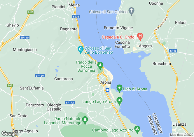 Map for Arona, Novara, Italy